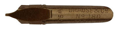 Antike Bandzugfeder, Brause & Co, No. 180, 0,75mm, Typ 1