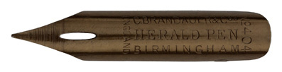 Antike Spitzfeder, C. Brandauer & Co LTD, No. 404, Herald Pen