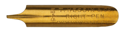Antike linksgeschrägte Feder, T. Hessin & Co Ltd., No. 456, Right Pen