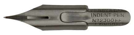 Antike Pfannenfeder, Perry & Co, Indent Pen, No. 2300 EF, Typ 2