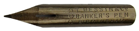 Spitzfeder, T. Hessin & Co, No. 292, Bankers Pen