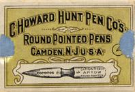 Antike Schreibfederschachtel, C. Howard Hunt Pen Co, No. 4, Arrow, Round Pointed