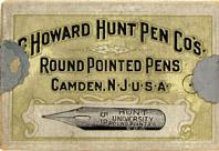 Antike Schreibfederschachtel, C. Howard Hunt Pen Co, No. 59, University / Round Pointed