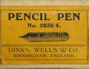 Antike Kalligraphie Schreibfederschachtel, Hinks, Wells & Co, No. 2836-4, Pencil Pen