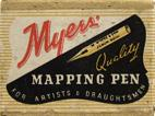 Antike Schachtel mit Röhrchenfedern, M. Myers & Son LTD, No. 5062, Mapping Pen for artists and draughtsmen