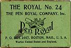 Schreibfederschachtel, The Pen Royal Company, No. 24, The Royal
