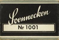 Antike Schreibfederschachtel, F. Soennecken, No. 1001, Bonna Pen