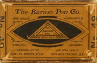 Schachtel mit Kalligraphie Spitzfedern, The Barion Pen Co. No. 49