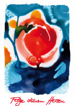 Folge deinem Herzen, arteschocken Postkarte von Erika Genser