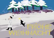 Frohe Weihnacht, arteschocken Postkarte von Anja Schneider