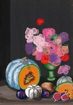 Herbstliches Stilleben, arteschocken Postkarte von Anja Schneider