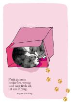 Froh zu sein, bedarf es wenig..., arteschocken Postkarte von Anja Schneider