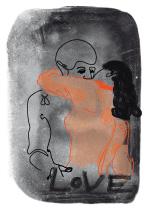 Love, arteschocken Postkarte von Anja Schneider