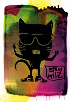 Stay wild, arteschocken Postkarte von Anja Schneider