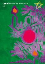 FarbenFrohe Weihnachten, arteschocken Postkarte von Anja Schneider