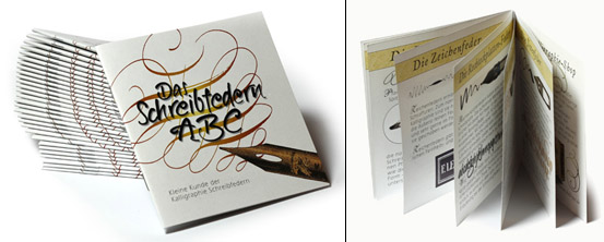 Das Schreibfedern-ABC, Kleine Kunde der Kalligraphie-Schreibfedern
