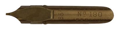 Antike Bandzugfeder, Brause & Co, No. 180, 0,65mm, antik