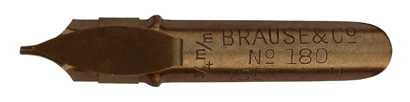 Antike Bandzugfeder, Brause & Co, No. 180, 3/4 mm