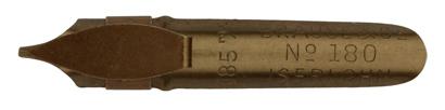 Antike Bandzugfeder, Brause & Co, No. 180, 0,85mm, antik