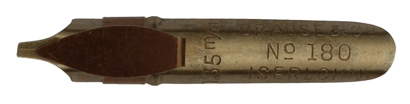 Antike Bandzugfeder, Brause & Co, No. 180, 1,35mm, antik
