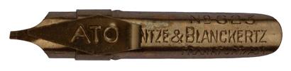 Antike Bandzugfeder mit Aufkante, Heintze & Blanckertz, No. 623, ATO