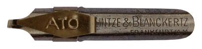Antike Bandzugfeder mit Aufkante, Heintze & Blanckertz, No. 624, ATO