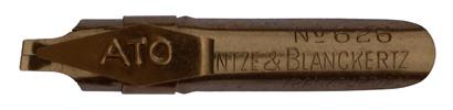 Antike Bandzugfeder mit Aufkante, Heintze & Blanckertz, No. 626, ATO