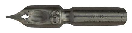 Antike Bandzugfeder, Joseph Gillott & Sons LTD, No. 5005-6, 0,6mm, Ornamental Writing Pen