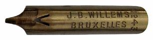 Kalligraphie-Bandzugfeder, J. B. Willems, No. 43