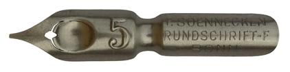 F. Soennecken, Rundschrift-F. No. 5, Typ 2