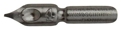 F. Soennecken, Rundschrift-F. No. 4, Typ 1