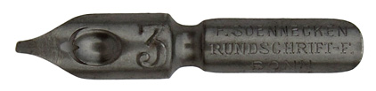 F. Soennecken, Rundschrift-F. No. 5 1/2, Typ 1