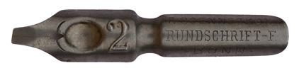 F. Soennecken, Rundschrift-F. No. 2, Typ 1