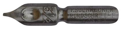 F. Soennecken, Rundschrift-F. No. 3 1/2, Typ 2