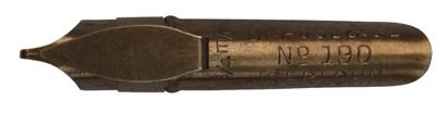 Antike Bandzugfeder, Brause & Co, No. 190, 0,75mm, mit Aufkante