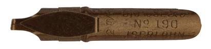 """Antike Bandzugfeder, Brause & Co, No. 190, 2mm, mit """"Aufkante"""""""