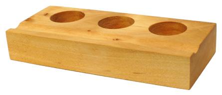 Fasshalter für 3 Tinten, Birkenholz