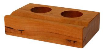 Tinten-Faßhalter für 2 Tinten, Birnenholz