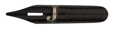 Antike Kalligraphie Bandzugfeder, C. Brandauer & Co, No. 251 B, Typ 1