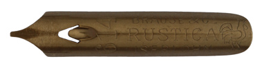 Antike Bandzugfeder, Brause & Co, No. 614, 0,65 mm