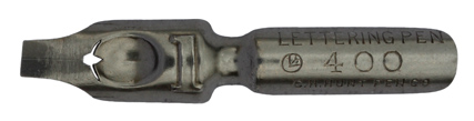 Antike Bandzugfeder, C. Howard Hunt Pen Co, No. 400-1, Lettering Pen