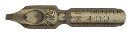 Antike Bandzugfeder, C. Howard Hunt Pen Co, No. 400-2 1/2, Lettering Pen