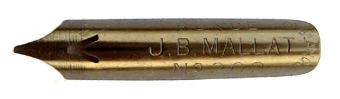 Antike Bandzugfeder, J. B. Mallat, No. 202, Plume en Ronde