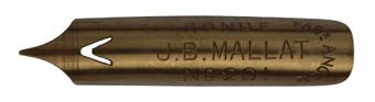 Antike Bandzugfeder, J. B. Mallat, No. 201, Plume en Ronde