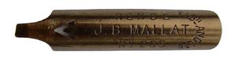 Antike Bandzugfeder, J. B. Mallat, No. 205, Plume en Ronde