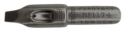 Perry & Co, No. 1174-1, Oblique, Round Hand Pen