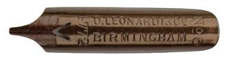 Antike Bandzugfeder, D. Leonardt & Co, No. 4772-3, Bronze