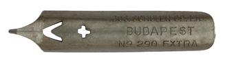 Antike Bandzugfeder, Jozsef Schuler & Co Ltd., No. 290 Extra, Atlantic Pen