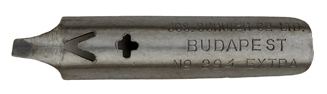 Antike Bandzugfeder, Jozsef Schuler & Co. Ltd., No. 294 Extra, Atlantic Pen