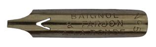 Bandzugfeder, Baignol & Farjon, No. 394-5, A la Ronde, Typ 1
